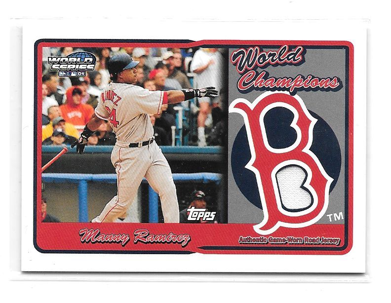 2005 Topps Manny Ramirez WORLD SERIES CHAMPIONS JERSEY RELIC Boston Red Sox