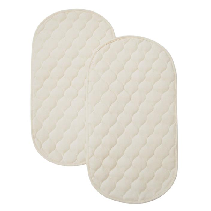 TL Care Waterproof Quilted Playard Changing Table Pads made with Organic Cotton,