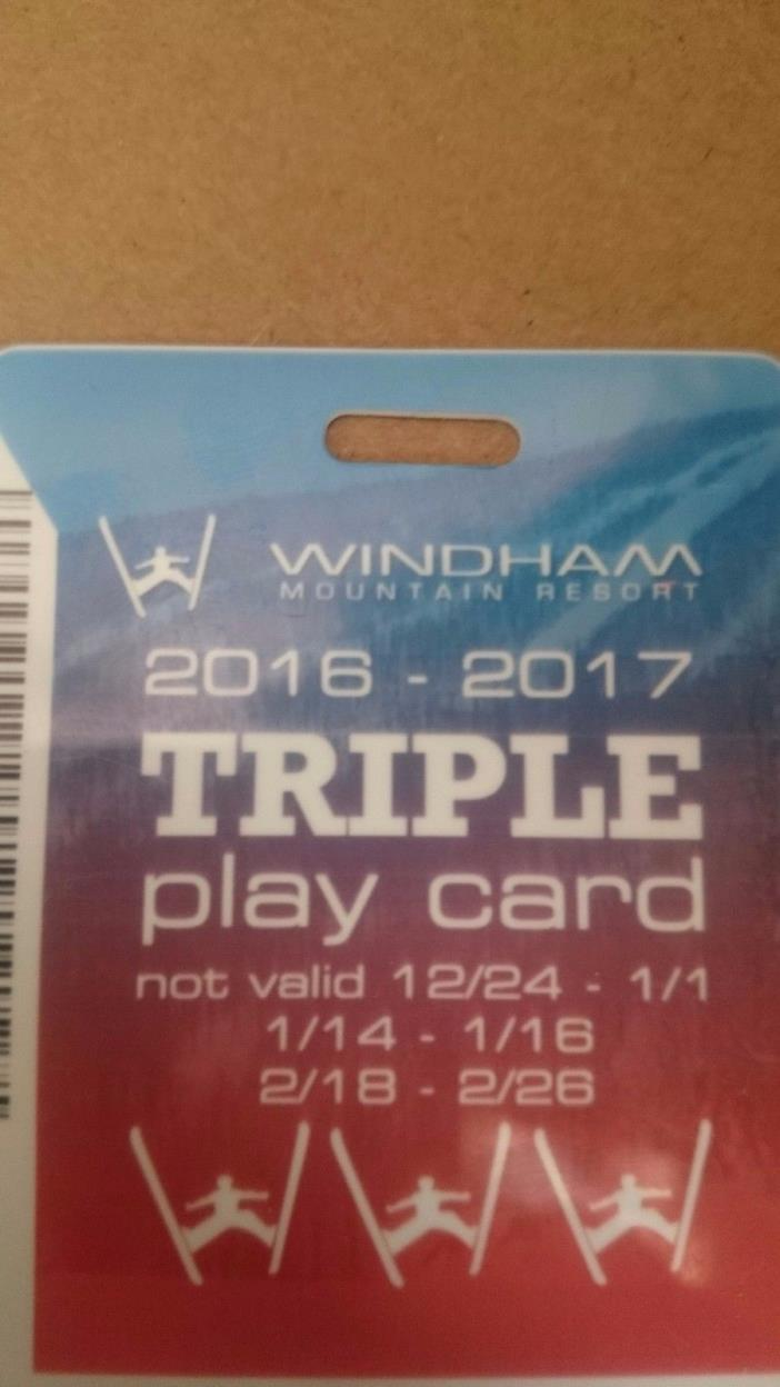 Windham Mountain Triple Play card lift tickets