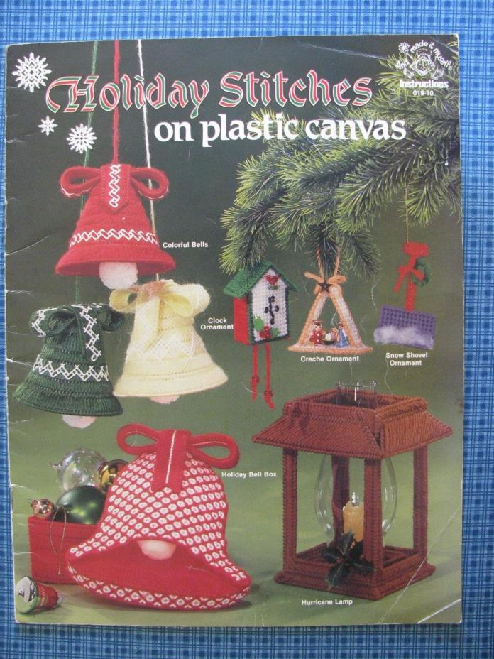 Christmas Ornament Decor HOLIDAY STITCHES on Plastic Canvas  Pattern Booklet