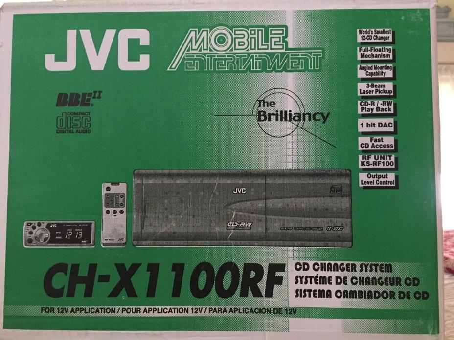 JVC CD, CD-R, CD-RW PLAYBACK 12-DISC COMPACT DISC CD CHANGER CH-X1100RF