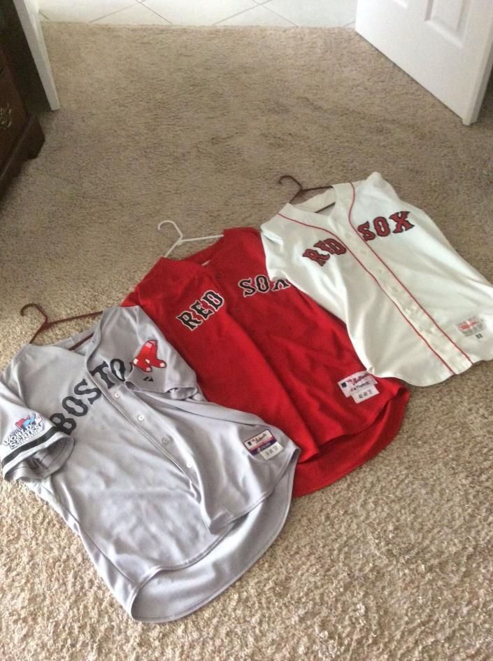 Boston Red Sox game used jersey collection