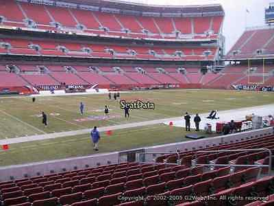 4 Cleveland Browns Season Tickets 2017 Section 105 row 4