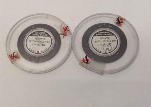 2 DICING BLADES RESIN BONDED DIAMOND MICRO SWISS SILICON DISCO ADT K&S