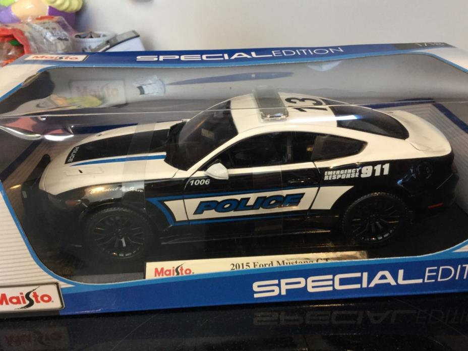 MAISTO DIE CAST 1:18  2015 FORD MUSTANG GT POLICE CAR NEW IN BOX VERY RARE
