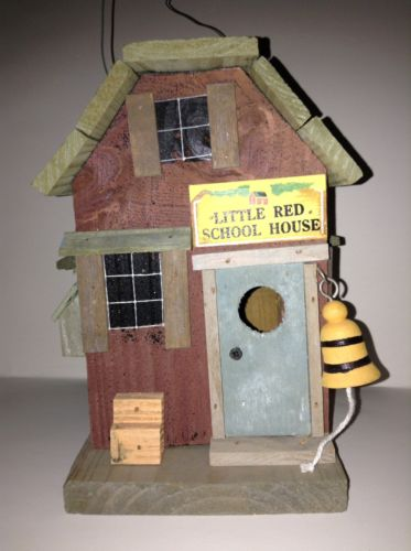 Bird House Rustic Wooden The Little Red School House 8