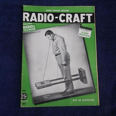 Radio Craft April 1943 Magazine WWII