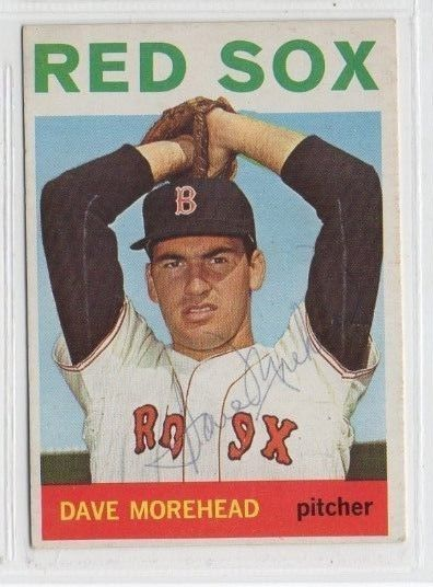 Dave Morehead 1964 Topps signed auto autographed card Red Sox