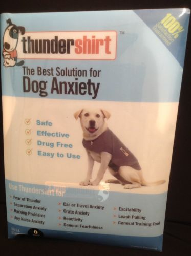 THE ORIGINAL Thundershirt in Gray  Dog Anxiety Treatment  Size Small 15-25 lbs