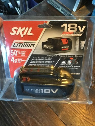 NEW SKIL SB18B-LI 18-Volt Long Lasting Lithium-Ion Li-Ion Slide Battery Pack