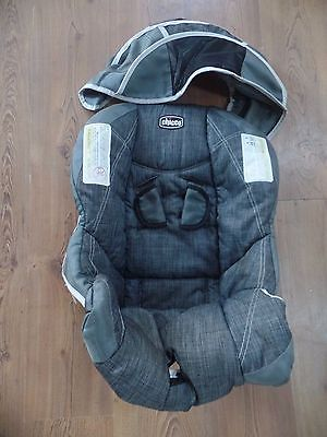 CHICCO Keyfit 30 Infant Car Seat Cushion Cover Canopy Straps Cover Gray Silver