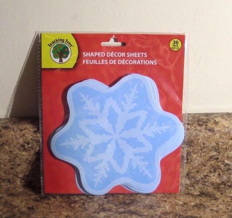 Snowflake Bulletin Board Room Decor Teacher Supplies Set of 36  NEW