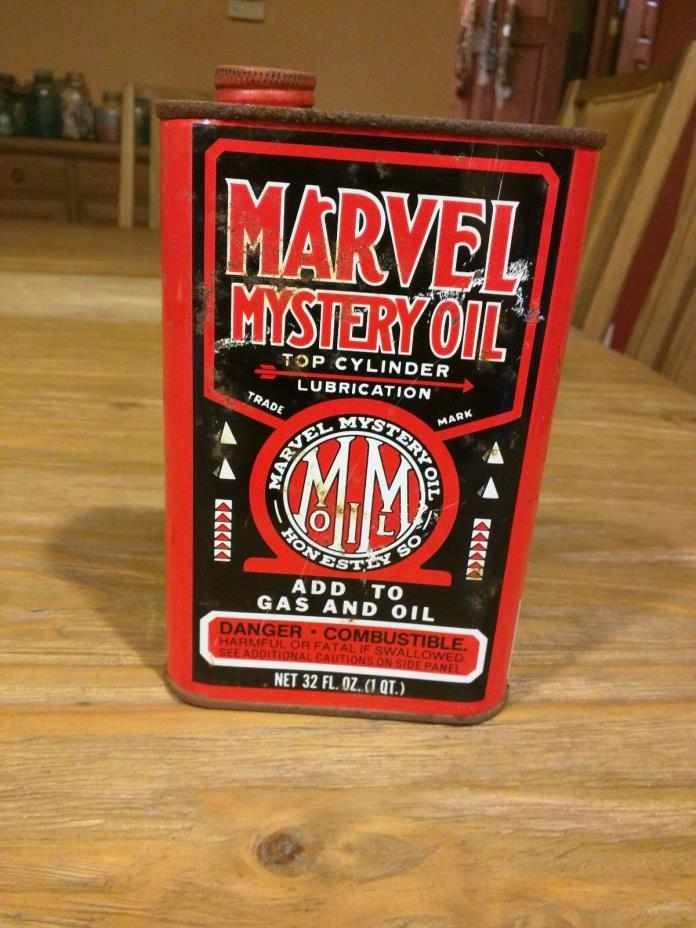 Vintage Marvel Mystery 1 Quart Oil Can
