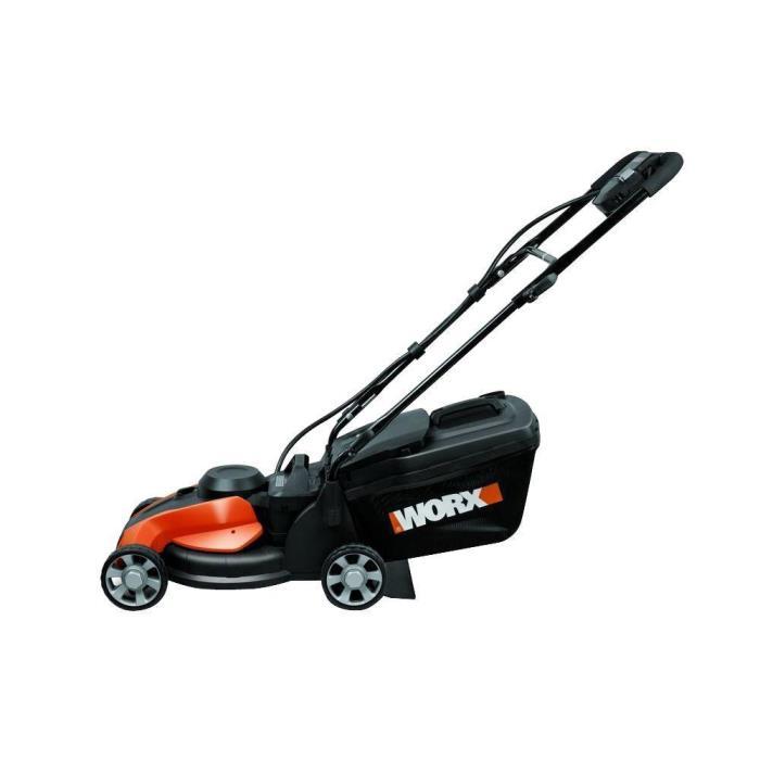 Worx 14 in. 24-Volt Walk-Behind IntelliCut Cordless Electric Push Lawn Mower-New