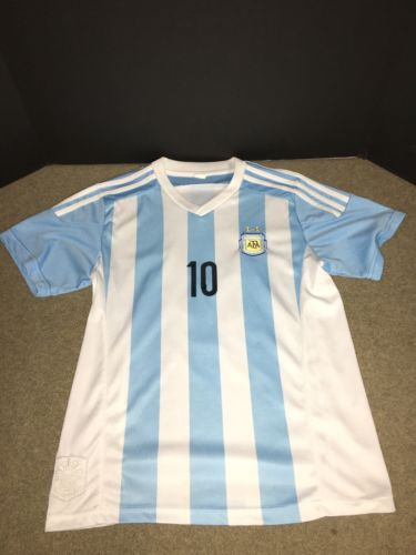 Argentina Football Association National Jersey Lionel Messi Jersey Youth Large