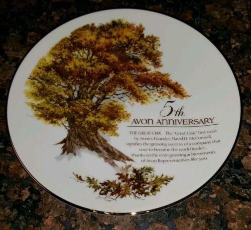 Avon Anniversary Plates, 5Th, 10Th, 15Th,  20Th, Lot of 4