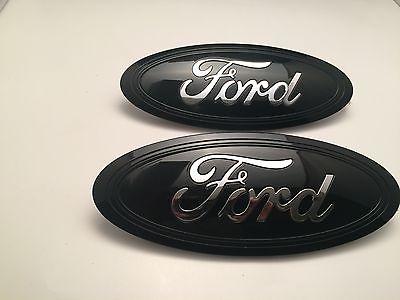 2015-2016-2017 Black & CHROME logo Ford F-150 Emblem SET (Grill & Tailgate set)