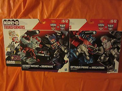 4 Kre-o Transformers Autobot Rachet vs Soundwave, Optimus Prime vs Megatron