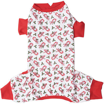 Candy Cane Dog Pj's-Extra Small 104123