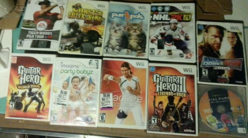 Lot of 10 wii games FREE SHIPPING