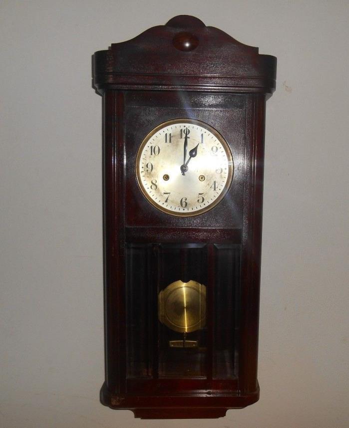 Antique German Hamburg - Amerikanische Uhrenfabrik Wall Clock