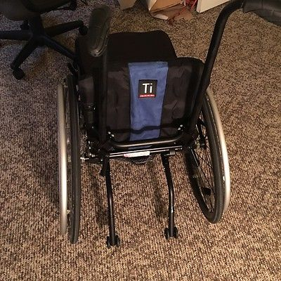 Ti Lite GRA Rigid 12 x 15 Wheelchair w/ Manual + Lighted Casters+ A/Tippers+Seat