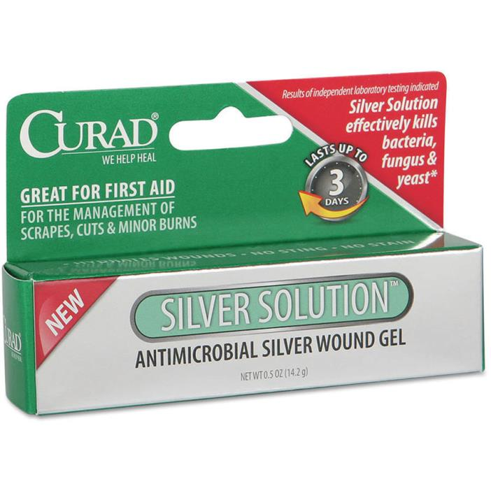 Curad + Silver (Sulf) Infections Burns Wounds Cream Read AD
