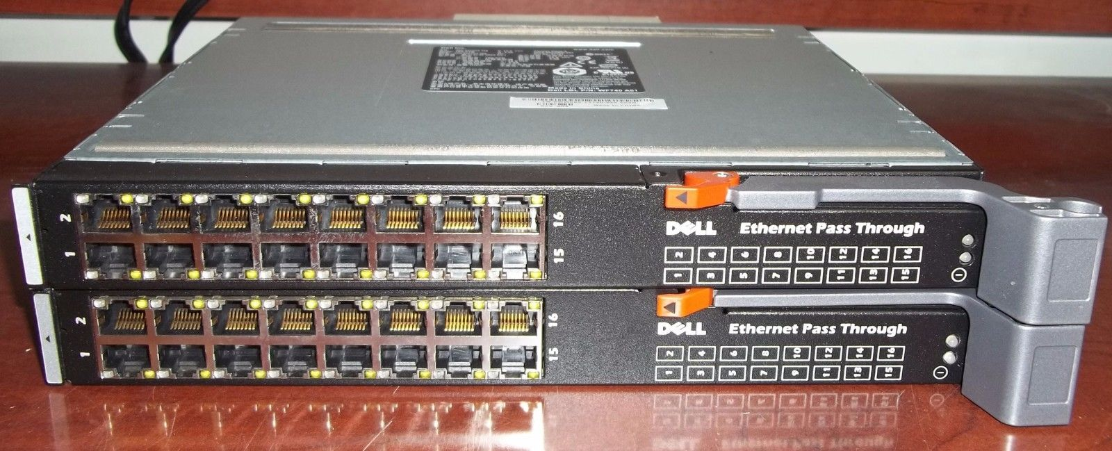 2 Dell Ethernet Pass Modules 10G-PTM 0WW060 from M1000e Blades