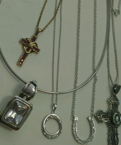 scrap sterling silver necklaces cross