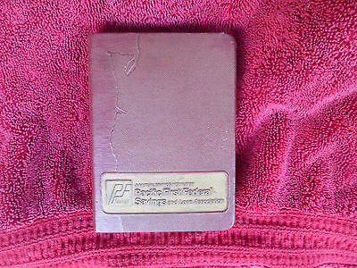 BANKERS UTILITIES CO. BOOK BANK  NO KEY  Patent 1923 PACIFIC FIRST SAV/LOAN