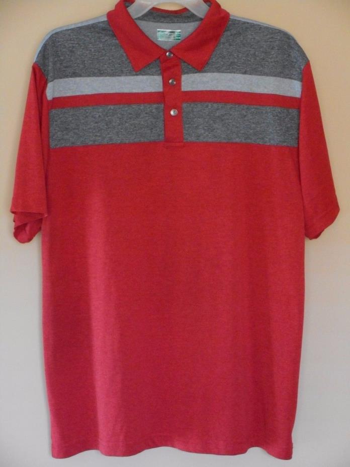 Mens Ben Hogan Performance Golf Collection Red/Silver Polo size XL