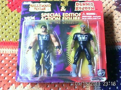 WCW / NWO HOLLYWOOD HOGAN & DENNIS RODMAN SPECIAL EDITION ACTION FIGURES