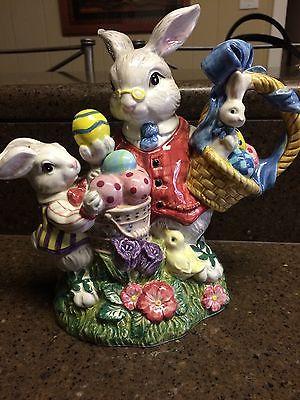 NWOB!!!  Fitz and Floyd Vintage Bunny Rabbit Teapot 1998