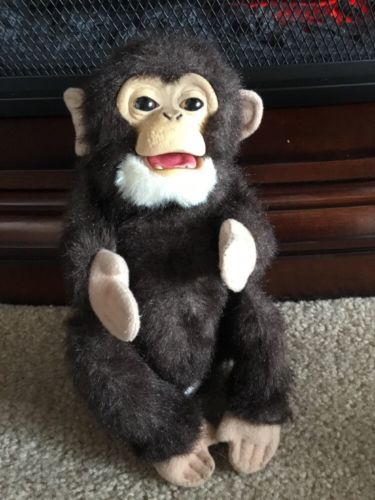 Life Like Furreal Friends Baby Chimpanzee Chimp Interactive  Plush Toy 9