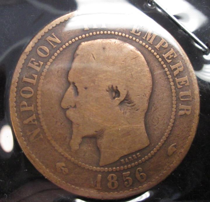 1856-A - France 10 Centimes - B203