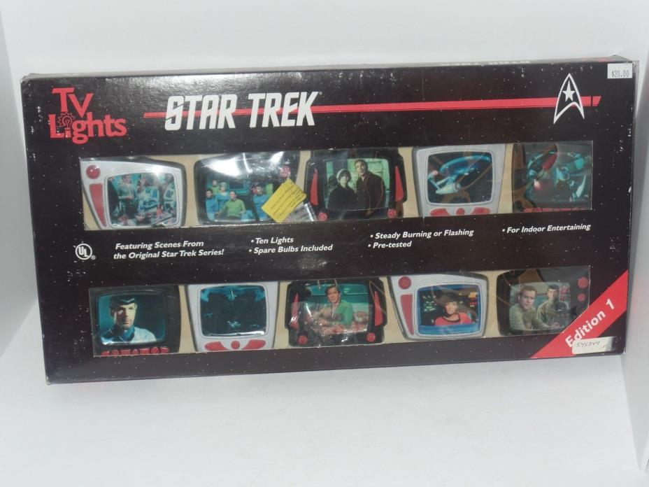 Vintage Star Trek Series 1 Television TV Holiday Christmas Lights Set