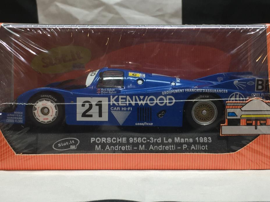 SLOT IT SICA02A PORSCHE 956C KENWOOD ANDRETTI VERY RARE 1/32 CAR NIB FREE SHIP