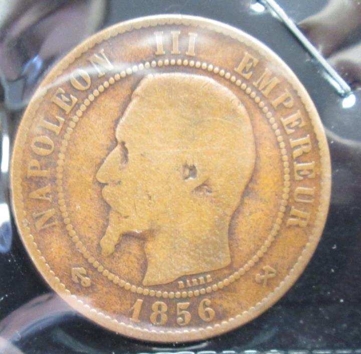 1856-B - France 10 Centimes - B203