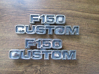 Ford F-150 Custom Metal Emblems Set of 2 Part #16702