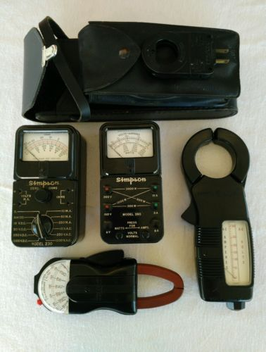 Vintage collection of working electrician electrical test meters