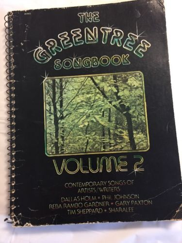 Greentree Songbook  Volume 2 Voice Piano 60 Christian Song Book Guitar Unmarked