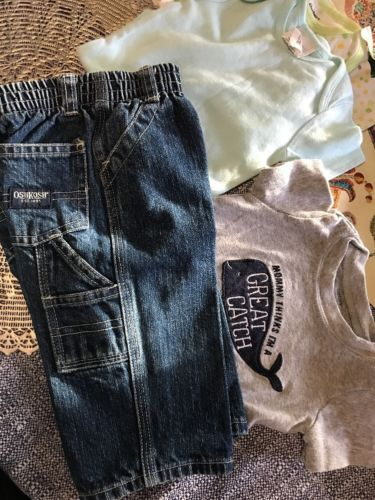 Baby Boy Lot Outfits Size 3-6 M Guess Carter's And More