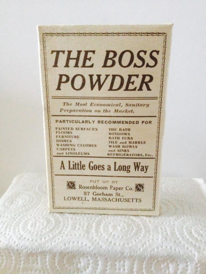 Vintage 1940's The Boss Washing Powder's  Box – Lowell, Massachusetts