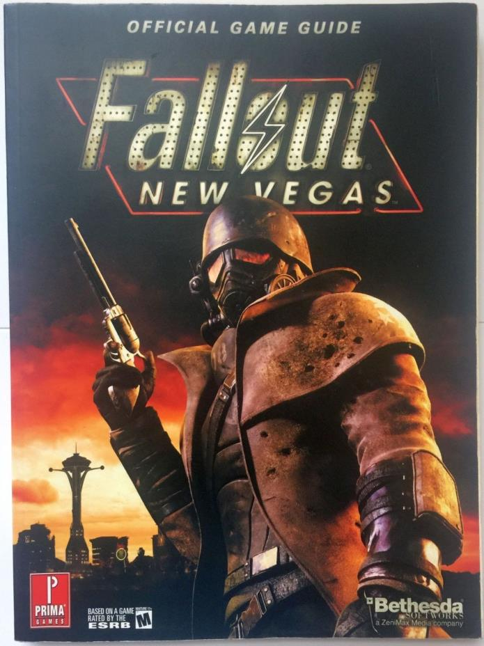 FALLOUT New Vegas PRIMA Bethesda Official Strategy Game Guide (No Poster)