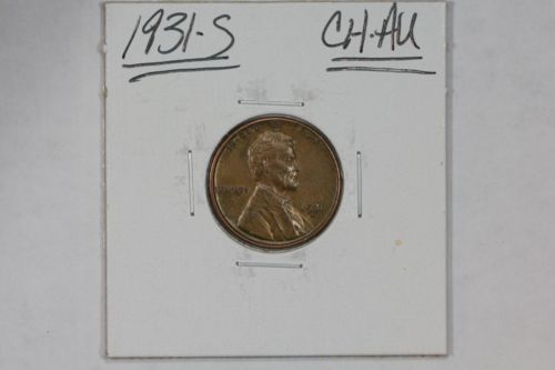1931-S LINCOLN WHEAT 1C CENT CH AU+