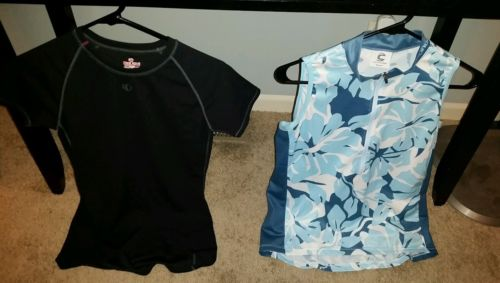 2 WOMENS CYCLING TOPS CANNONDALE & PEARL IZUMI SIZE MEDIUM