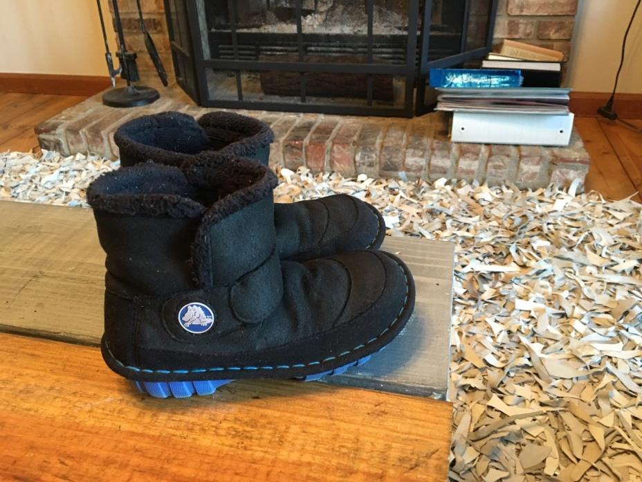 Crocs Black, Fleece Lined, Toddler Boots Unisex Youth Size 12