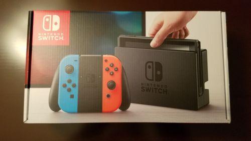 Nintendo Switch - Gray Console (Neon Red/Neon Blue Joy-Con) BNIB READY TO SHIP