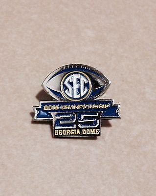 2016 25th SEC Championship Commemorative Pin & Game Program- Alabama vs Florida