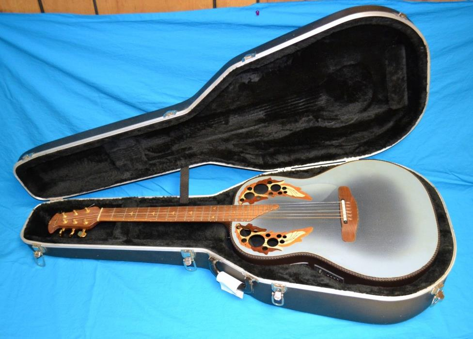 Adamas by Ovation 1681-8 1987 Acoustic Electric Guitar 6 String Blue